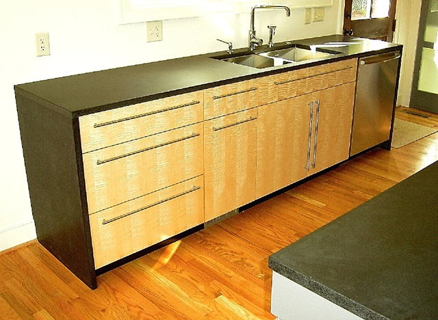 kitchen - figured maple