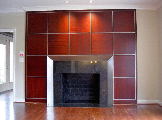mantle piece - mahogany, steel