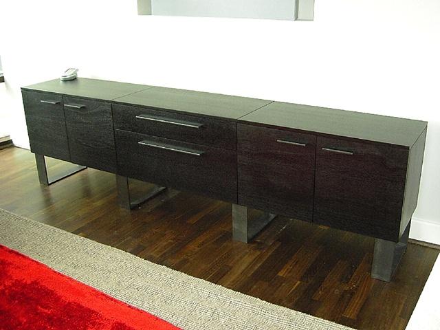 credenza - ebonized mahogany, iron