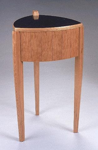 drum table - cherry, ebony