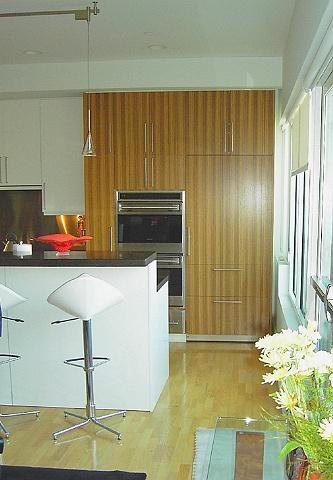 kitchen - zebrawood, white lacquer