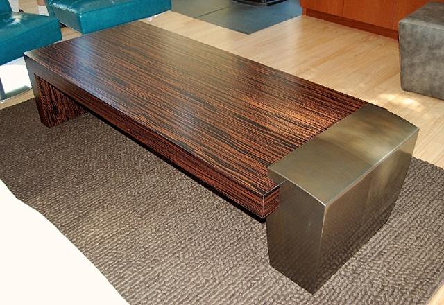 coffee table - ebony, steel