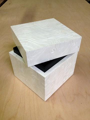 anniversary box - bleached holly, ebonized mahogany