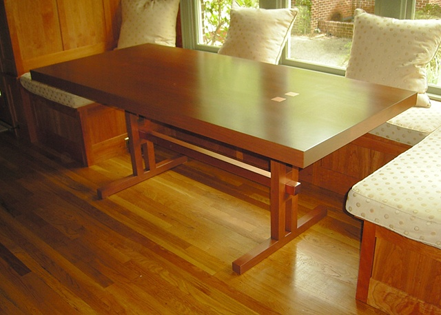 dining table - cherry, copper