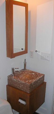 bathroom - teak