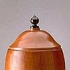 funerary urn - mahogany, ebony