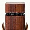 chest on stand - East Indian rosewood, mahogany, ebonized walnut, ebony