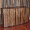 television cabinet - macassar ebony, ebonized walnut