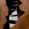 chest on stand - fiddleback maple, black walnut, ebony, forged iron