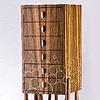 chest on stand - orientalwood, black walnut, molten sulfur inlay, bone handles