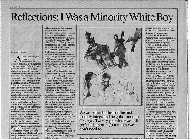 Reflections: I was a minority white boy