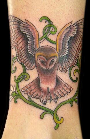 nouveau owl ankle