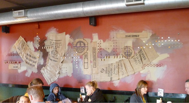 Rise & Wine Collage Mural