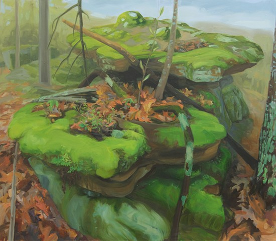 contemporary painting  ozarks forest floor