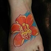 Foot Flower Tattoo