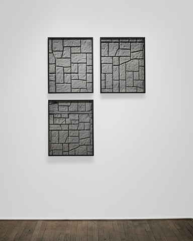 Stone Wall Installation View: Exercise N/or Exorcise William Busta Gallery, Cleveland, OH