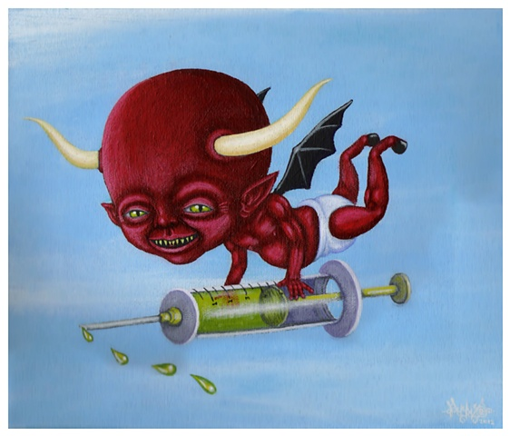 Devil, Demon, Vaccines, Vaccine, Needle, Injection, Intraveinous