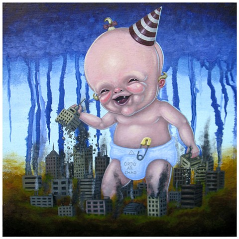 Pascal Leo Cormier, Payazo, Art, Painting, Chaos, Occult, Baby, Zéphyr, Destruction, Invation