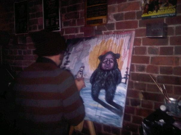 Pascal Leo Cormier, Live Painting, Fredericton, Feels Good, Capital Complex, Benjamin Allain