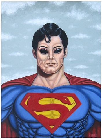 Art, Superman, Krypton, DC Comics, Alien, UFO, Painting