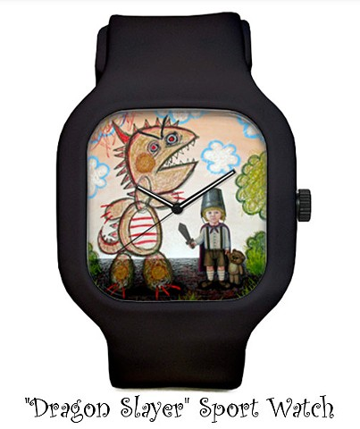 Artist, Art, Portrait, Watch, Modify Watches, Gift, Payazo, Acrylic Painting, Art Print, Pascal Leo Cormier, Montreal, Contemporary Art, Lowbrow Art, Hi Fructose Magazine, Juxtapoz Magazine, California