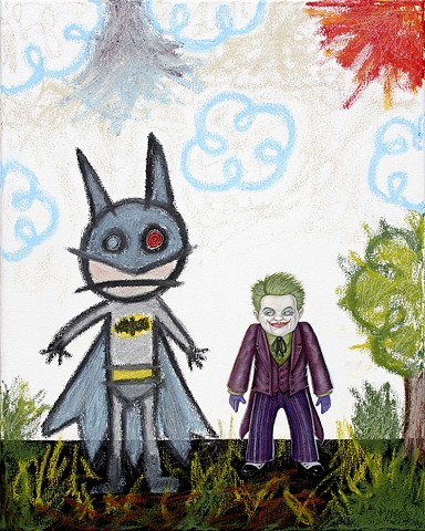 Art, Painting, Drawing, Kid Art, Batman, Joker, DC Comics, Comix, Galerie Abyss, Montreal, Comic Con, Comic Books, Super Hero