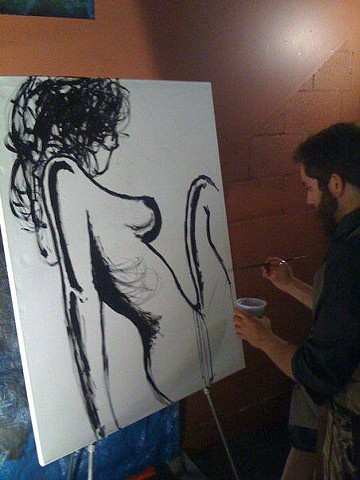 Pascal Leo Cormier, Live Painting, TBA Collective