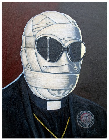 Art, Painting, Monsters Are Real, Jesuit, Priest, Vatican, Rome, Black Pope, The Invisible Man, Society of Jesus, IHS, Ignatius of Loyola, Black Magick, NWO, Infiltration, MK Ultra, Assassin, Pascal Leo Cormier, Payazo