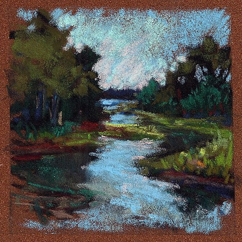 South Thomaston Marsh- 3.5 x 3.5""