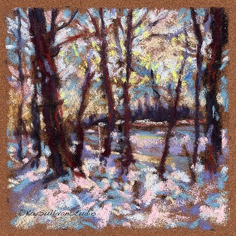 "Riverbank- Winter 1 (4 x 4"")"