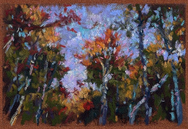 Autumn Trees & Sky _3.5x5""