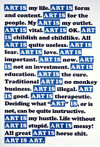 ART IS BLUE
