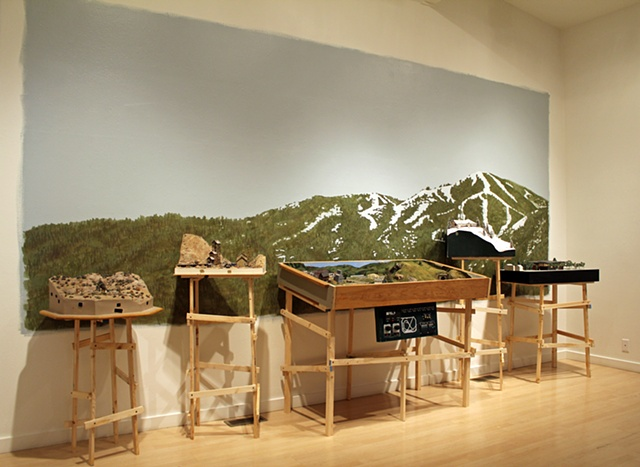 A Found History  Installation view (left)