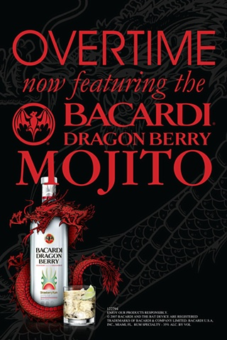 Bacardi Dragon Berry promo