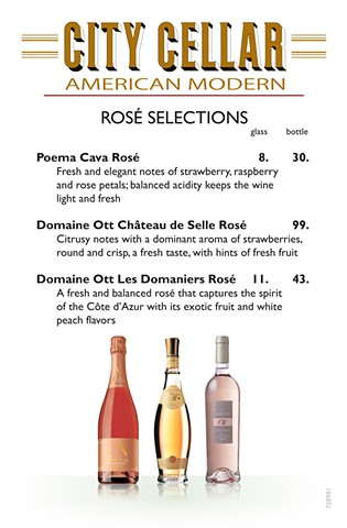 City Cellars Rose Menu