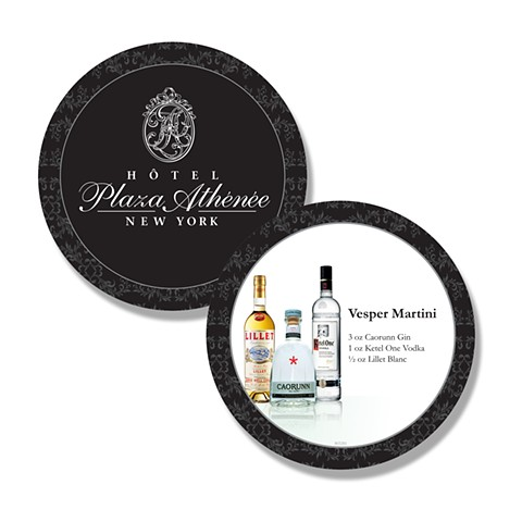 Plaza Athenee Custom Coasters