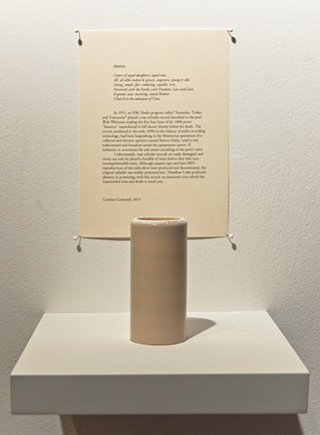walt Whitman wax cylinder record