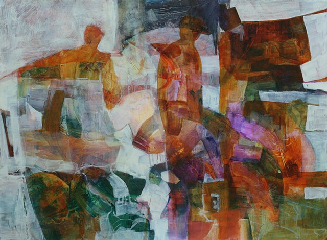 Lineage by Jim Carpenter, Acrylic painting on paper by Jim Carpenter