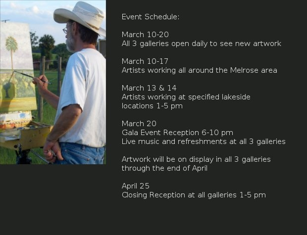OPEN AIR ARTS 2010  Schedule of Events