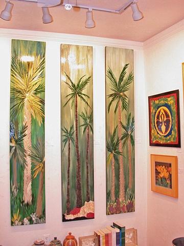 Standing Palms (set of three)