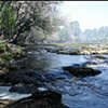 The Shoals on the Suwannee River and smoke from Bugaboo fire
