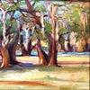 """""""Landscape, Oak Trees"""""""