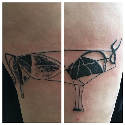 picasso bull tattoo