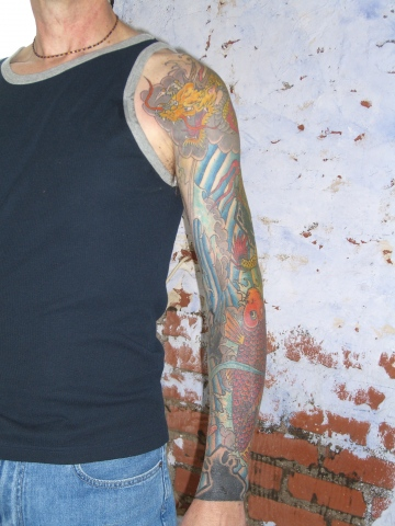 koi and dragon sleeve