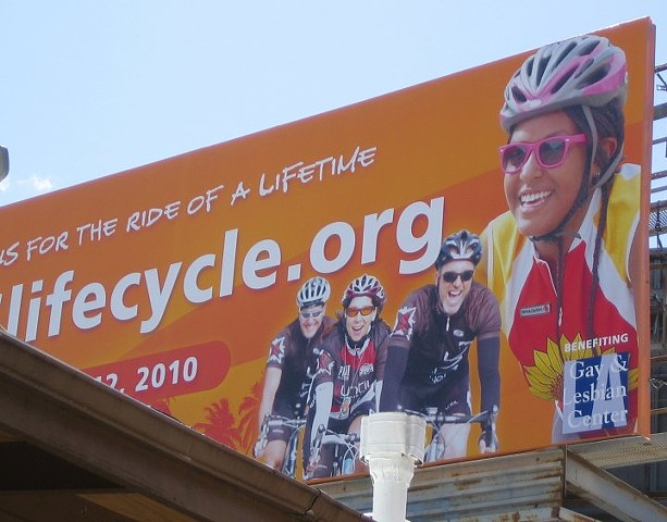 Utac Cycling team ALC billboard