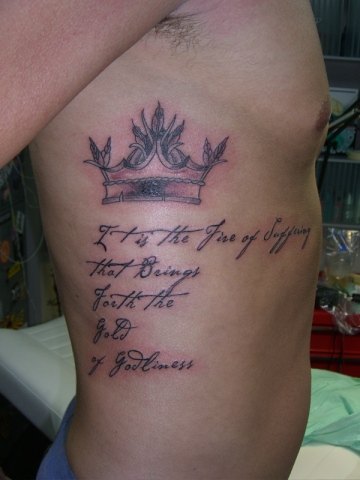 crown and lettering