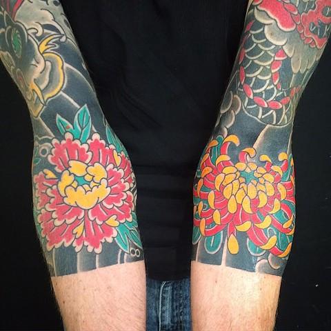 Peony & Chrysanthemum