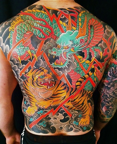 Dragon & Tiger Back Piece