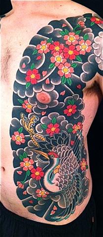 Crane & Cherry Blossom