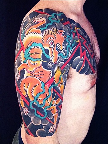 Kitsune half sleeve